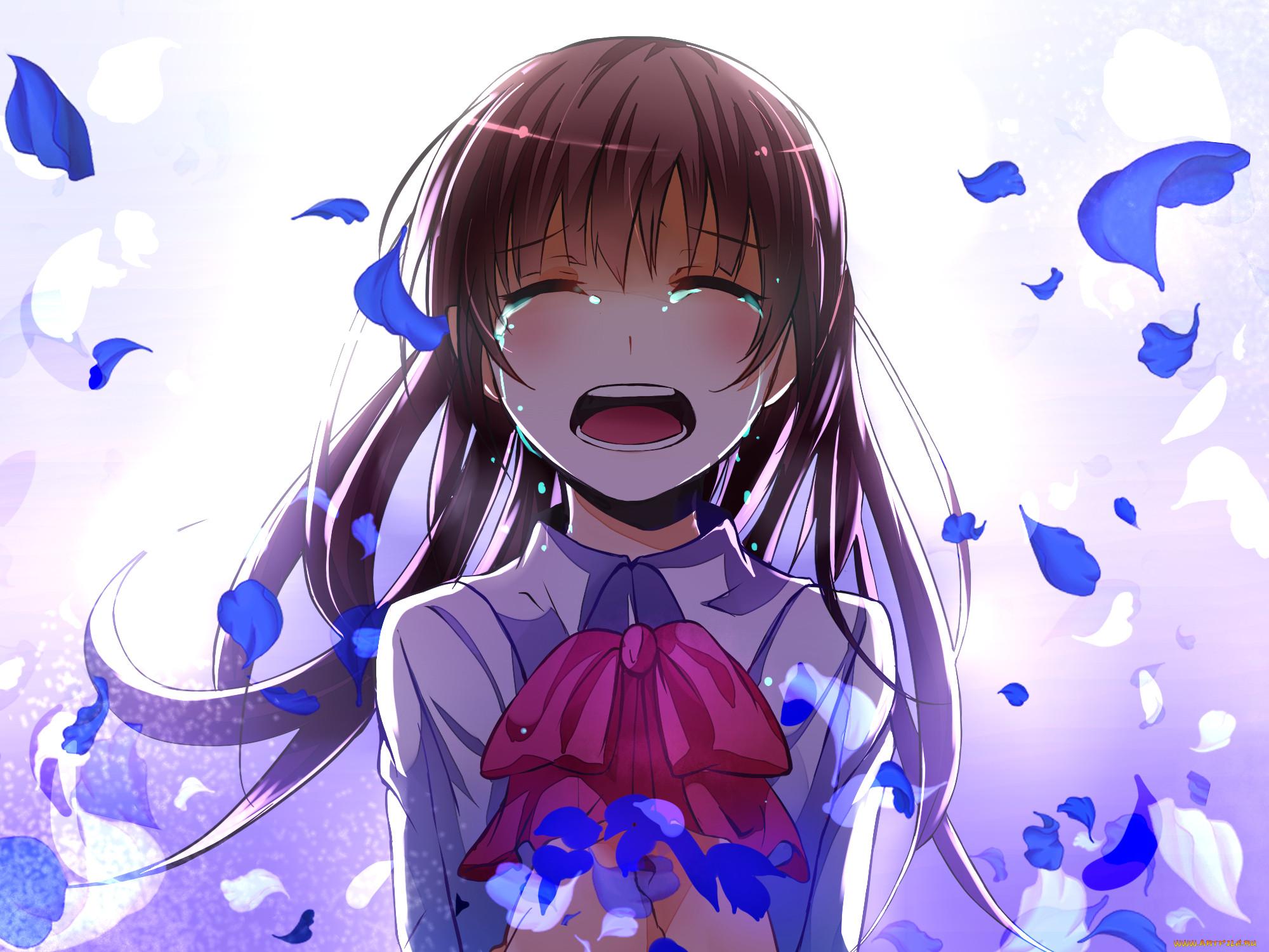 Картинки аниме плачущей девочки